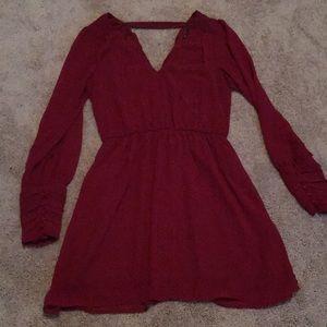Crimson party dress